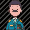 commander, chief, general, military, uniform icon