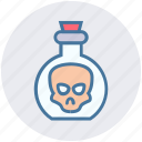 chemical, experiment, head, in head, laboratory, liquid, science icon