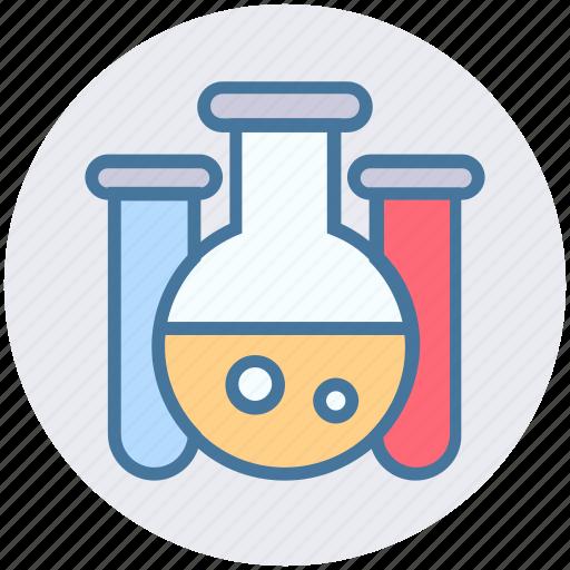 experiment, flask, lab, laboratory, liquid, science, test tube icon