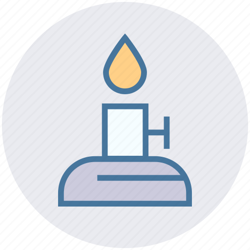 burn, candle, education, fire, learning, physics, science icon