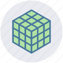 box, cube, form, geometry, math, science, shape icon