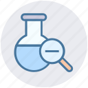 chemical, experiment, flask, laboratory, liquid, science, test tube icon