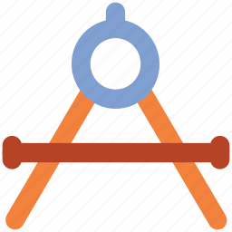 compass, design element, divider, drawing, geometrical compass, geometrical instrument, geometry tool icon