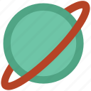 exploration, orbit, planet, saturn, solar system, universe icon