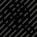 atom, molecule, science, search icon