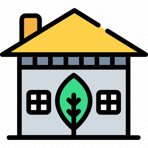 ecology, green, home, house, leaf, mortgage, nature icon