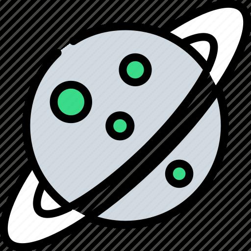 astronomy, cosmos, galaxy, planet, saturn, space, universe icon
