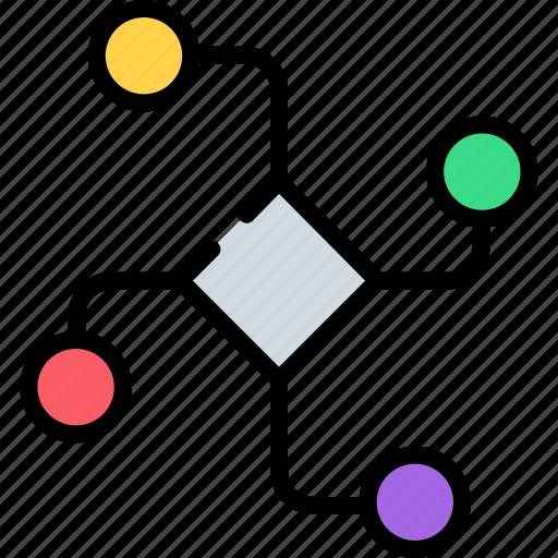 algorithm, artificial, data structure, diagram, flowchart, graph, program algorithm icon