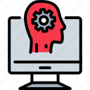 artificial intelligence, brain computer interface, computer brain, computer sciences, intelligence, machine learning icon