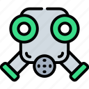 apocalypse, asbestos, construction, gas, mask, protect, smoke icon