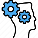 concept, creative, gear, logic, solution, strategy, thinking icon