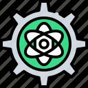 achievement, applied, atom, gear, math, physics, science