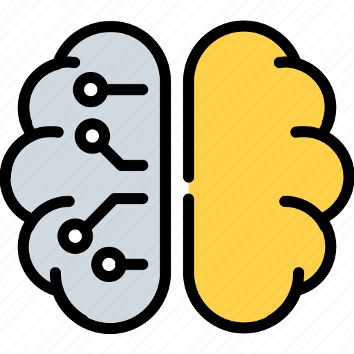 ai, artificial, brain, intelligence, learning, machine, science icon