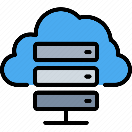 cloud, database, files, hosting, server, storage, weather icon
