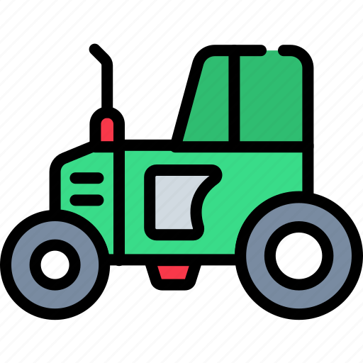 agriculture, cultivation, farming, farming vehicle, tractor, transport, village icon