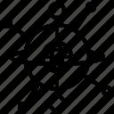 gravity, gyroscope, momentum, movement, stability icon