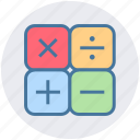 calculate, calculator, count, education, math, operation, science icon