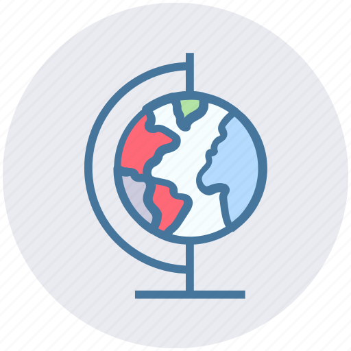 Desk globe, education, globe, map, science, table globe, world map icon - Download on Iconfinder