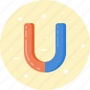 attraction, education, magnet, physics, power, science icon