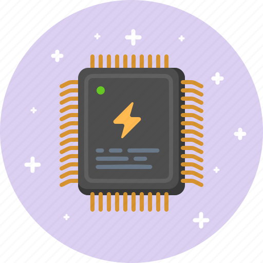 chip, computer, cpu, hardware, microchip, processor, technology icon