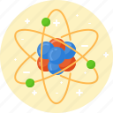 atom, chemistry, education, molecule, physics, science icon