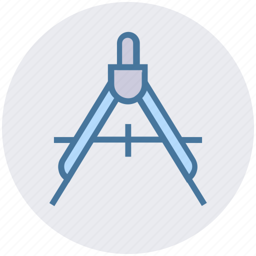 Compass, draw, education, geometry, math, school, science icon - Download on Iconfinder