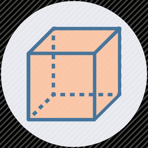 box, cube, geometry, math, science, shape, square icon