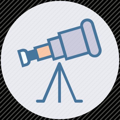 astronomy, planetarium, science, spyglass, telescope, view, vision icon