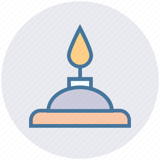 burn, candle, education, fire, light, physics, science icon