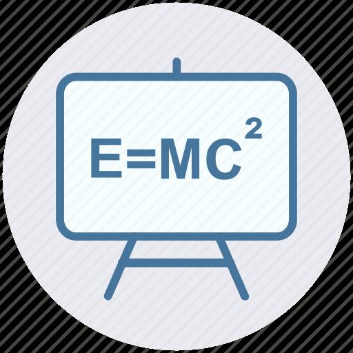 education, einstein formula, emc2, formula, physics, science, science formula icon