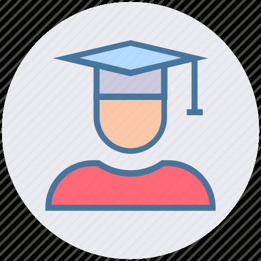 cap, degree, education, graduate, graduation, science, student icon