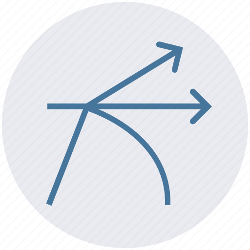 arrows, math, science, science and arrows, science in shapes, shapes of science icon