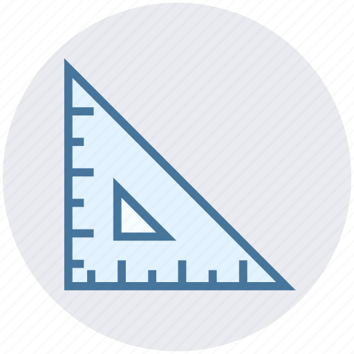 education, learn, ruler, school, science, setsquare, triangle icon