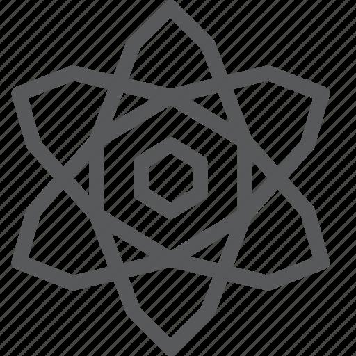 atom, biology, chemistry, lab, molecular, molecule, physics, science icon