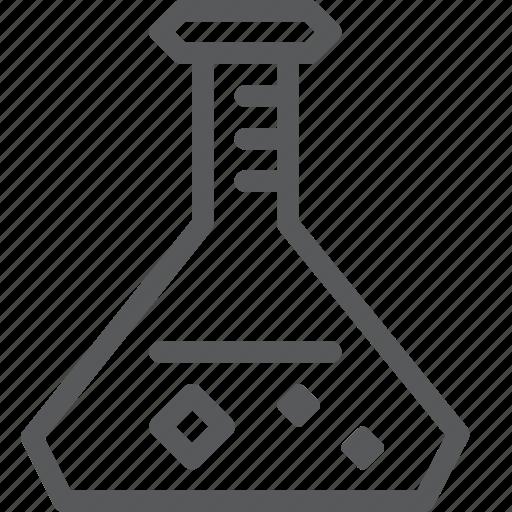 beaker, chemistry, flask, lab, school, science, tube icon