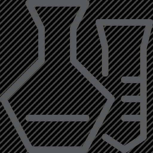 beaker, chemistry, equipment, lab, science, test, tube icon