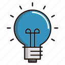 bulb, electricity, idea, light, science icon