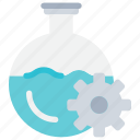 chemical, flask, flasks, laboratory, process, science icon