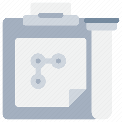 chemical, file, flask, laboratory, report, science, tube icon
