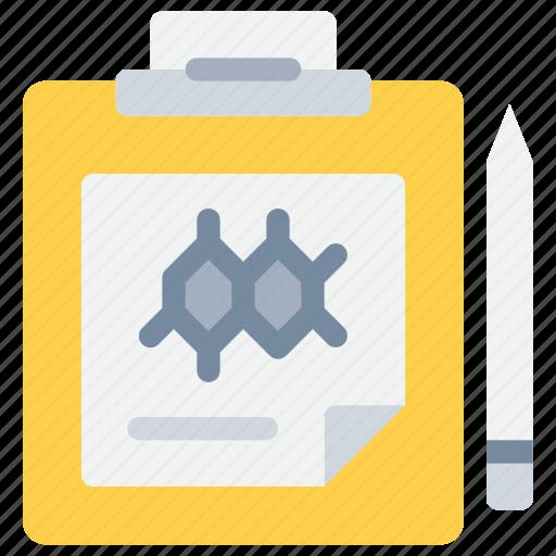 clipboard, document, laboratory, report, science icon