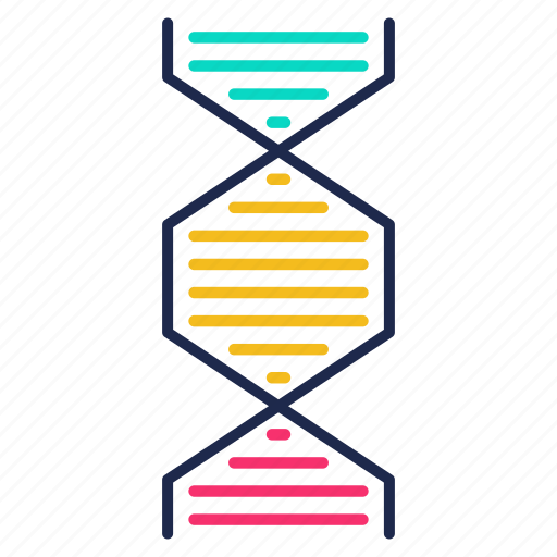 cell, dna, dna helix, gene, genetic, genetics, science icon