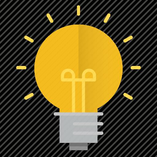 bulb, creativity, idea, innovation, science, thinking icon