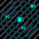 astronomy, education, physics, science, solar, study, system icon