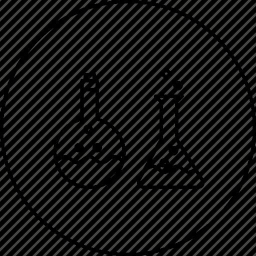 beaker, lab, liquid, science, tube, vapour icon