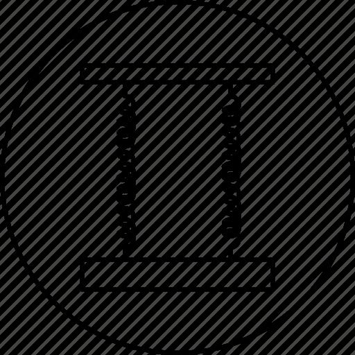 device, electrmagnatic, flexible, hook, law, science, spring icon