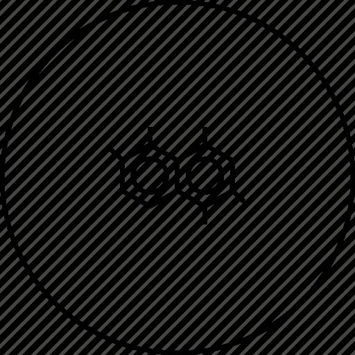 atom, hexagon, molecule, polymer, science, structure icon