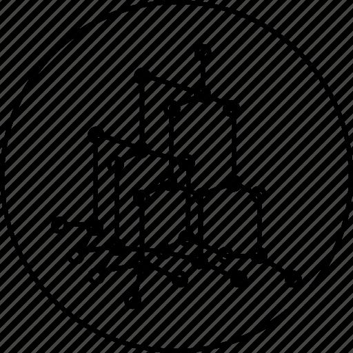 atom, model, molecule, science, sphatik, structure icon