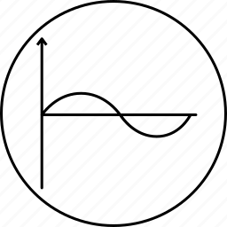 graph, line, science, sine, sinusoid, wave icon