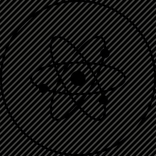 atom, electomagnatic, electron, molecule, nutron, proton, wave icon