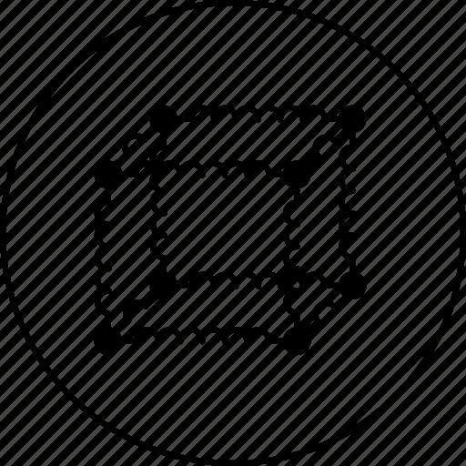 hexagon, qube, science, square, texture icon